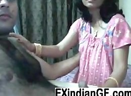 Amateur Indian couple having fun