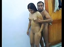 indian couple enjoying romantic